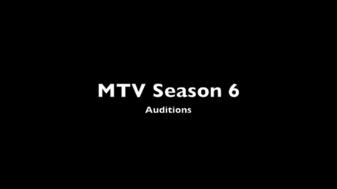 Thumbnail for entry Season 6 Auditions
