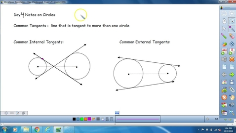 Thumbnail for entry Math 3 Unit 7 Day 4 Lesson on Tangent Lines to a circle