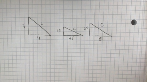 Thumbnail for entry Mr. Lamarre's Extra Help: Pythagorean Theorem Finding C