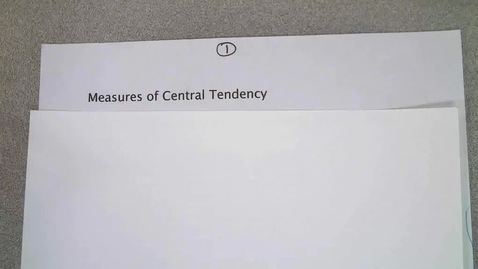 Thumbnail for entry Measures of Central Tendency