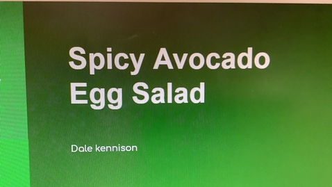 Thumbnail for entry Dale's spicy avocado egg salad