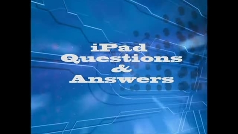 Thumbnail for entry Fraser High School iPad Q & A