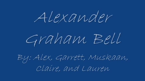 Thumbnail for entry Alexander Graham Bell