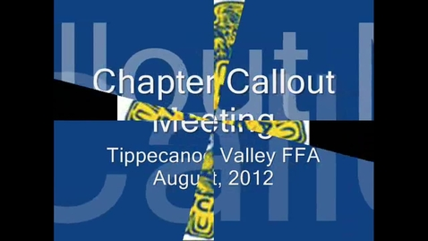 Thumbnail for entry FFA Call Out Mtg, 2012