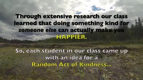 Thumbnail for entry 17 Random Acts of Kindness - Mr. Chambers' 5th Grade Class