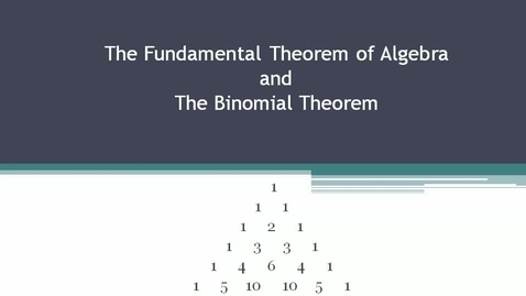 Thumbnail for entry Polynomial Theorems