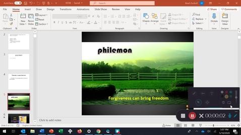 Thumbnail for entry PHILEMON: Forgiveness