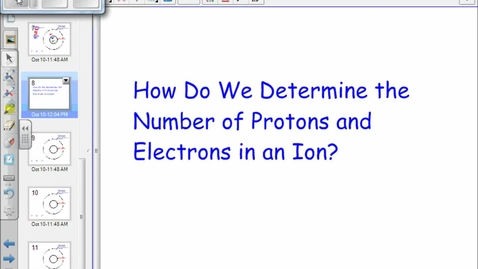 Thumbnail for entry Ions: Protons, Neutrons & Electrons
