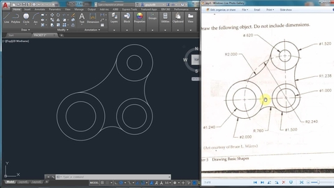 Thumbnail for entry AutoCAD LESSON 3H-3