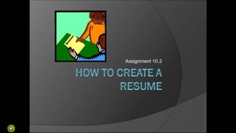 Thumbnail for entry How to Write a Resume