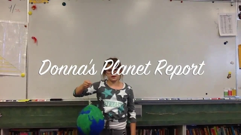 Thumbnail for entry Donna's Planet Report