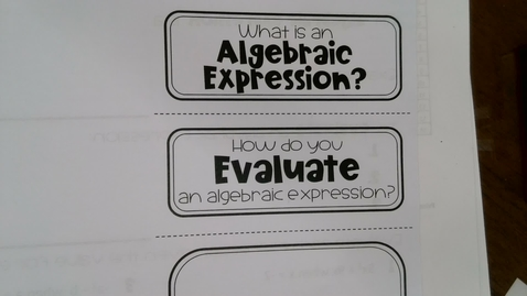 Thumbnail for entry Algebraic Expression
