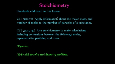 Thumbnail for entry Stoichiometry