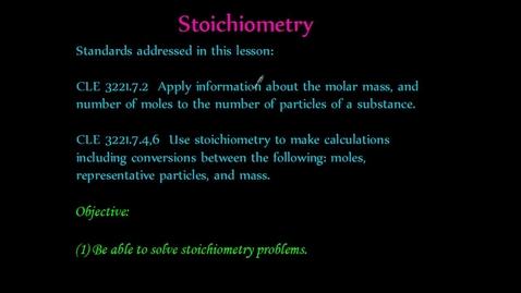 Thumbnail for entry Stoichiometry