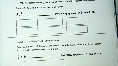 Thumbnail for entry Area Models for Dividing Fractions