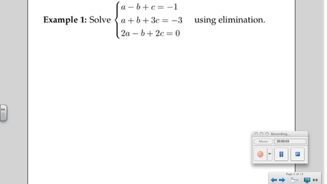Thumbnail for entry 3-6 Solving Systems of Equations (Day # 2)