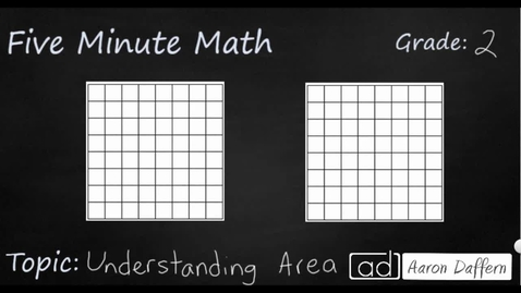 Thumbnail for entry 2nd Grade Math Understanding Area