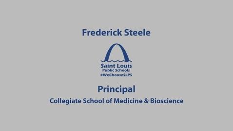 Thumbnail for entry CSMB Principal Frederick Steele