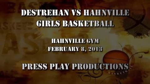 Thumbnail for entry Destrehan vs Hahnville Girls Basketball 08FEB2013