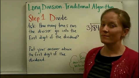 Thumbnail for entry Long Division Traditional Algorithm