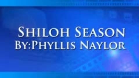 Thumbnail for entry Shiloh Season Book Trailer