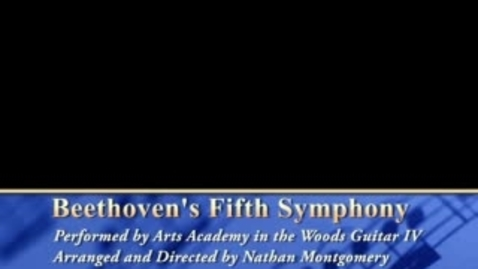 Thumbnail for entry Beethoven's Fifth performed by AAW Guitar IV