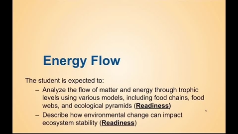 Thumbnail for entry Flow of Energy Notes