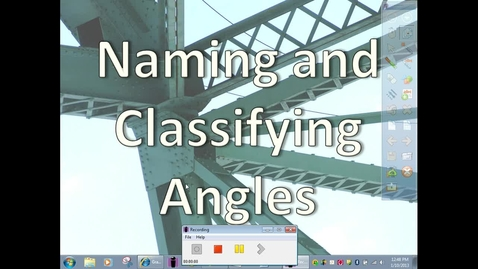 Thumbnail for entry Classfying and Naming angles