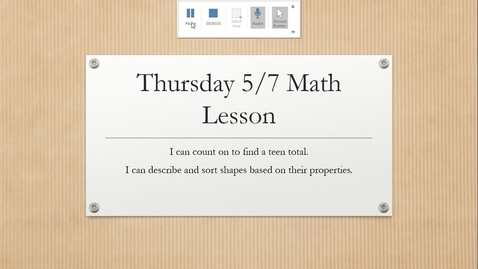 Thumbnail for entry Thursday Math Lesson 5-7: Triangles and Circles