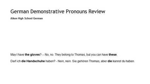 Thumbnail for entry Demonstrative Pronoun Review