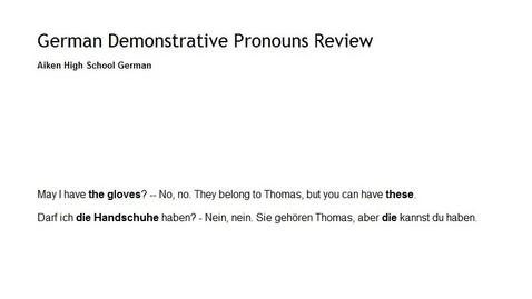 Thumbnail for entry Demonstrative Pronoun Review