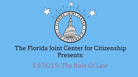 Thumbnail for entry 1.9 Rule of Law