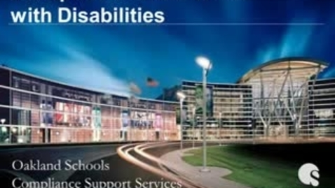 Thumbnail for entry Discipline and Students with Disabilities