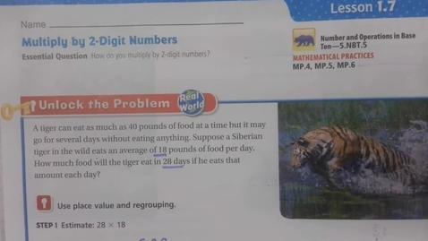 Thumbnail for entry Math 1.7 Thursday - September 9 - 5th Grade
