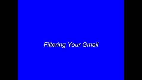 Thumbnail for entry Gmail Filter