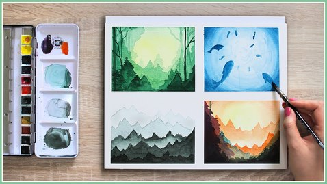 Thumbnail for entry Make Your Watercolor Painting Look MAGICAL With These Easy Watercolor Techniques & Ideas!