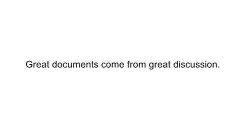 Thumbnail for entry Discussions in Google Docs