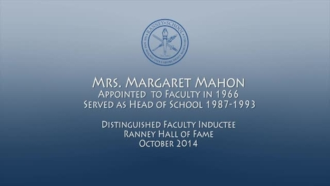 Thumbnail for entry Ranney Schools Second Head Margaret Mahon