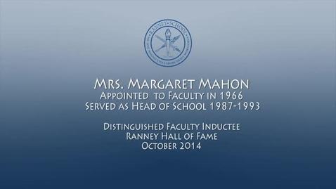 Thumbnail for entry Ranney Schools Second Head Margaret Mahon