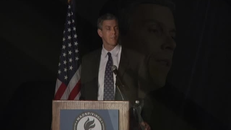 Thumbnail for entry Arne Duncan: Assistant Principals Of The Year