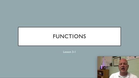 Thumbnail for entry Alg 1 Lesson 3-1