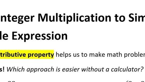 Thumbnail for entry 1-4 Using Integer Multiplication & Division