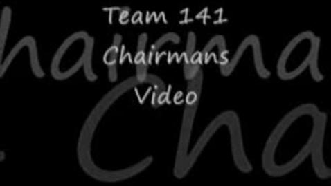 Thumbnail for entry Team 141 Robotics Chairman's Video