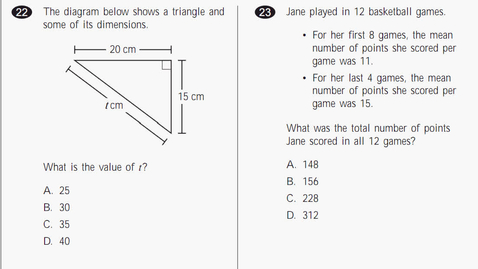 Thumbnail for entry MCAS Math 2010 Page 11