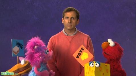 Thumbnail for entry Sesame Street: Steve Carrell - Vote
