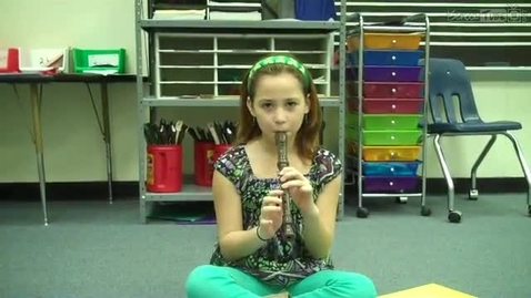 Thumbnail for entry Jacque R., recorder solo 2011, Dabbs Elementary