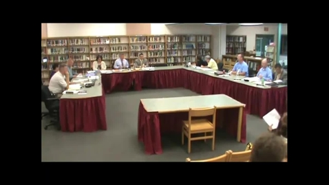 Thumbnail for entry Hackettstown Board of Education Meeting - 9/12/2012