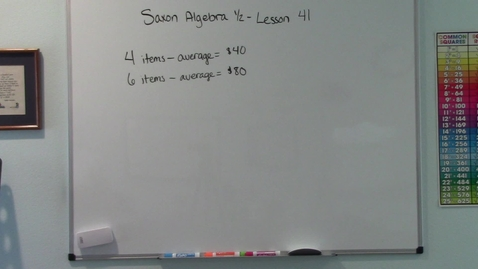Thumbnail for entry Saxon Algebra 1/2 - Lesson 41 - Overall Average