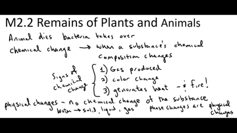 Thumbnail for entry Clip of M2.2 Remains of Plants and Animals