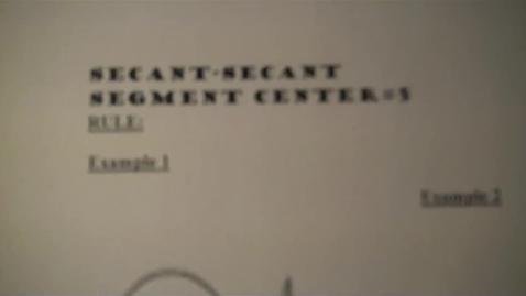 Thumbnail for entry Center 5 Secant Secant Center